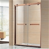 Aluminium Framed Rose Gold Finish Luxury Sliding Shower Door