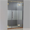 Ultra Sleek Rectangle Shaped Designer Sliding Glass Shower Door