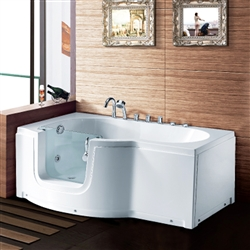 BathSelect Edirne Acrylic Freestanding Walk-in Tub