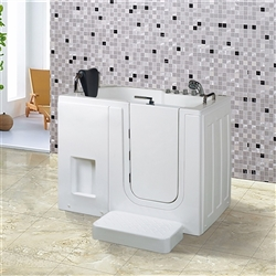 BathSelect Sofia Massage Style Freestanding Walk-in Tub