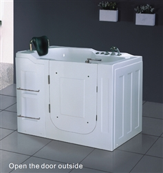 BathSelect Montpellier Acrylic Massage Walk-in Tub