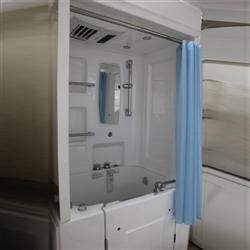 BathSelect Sofia Walk-In Acrylic Shower Cabin Set