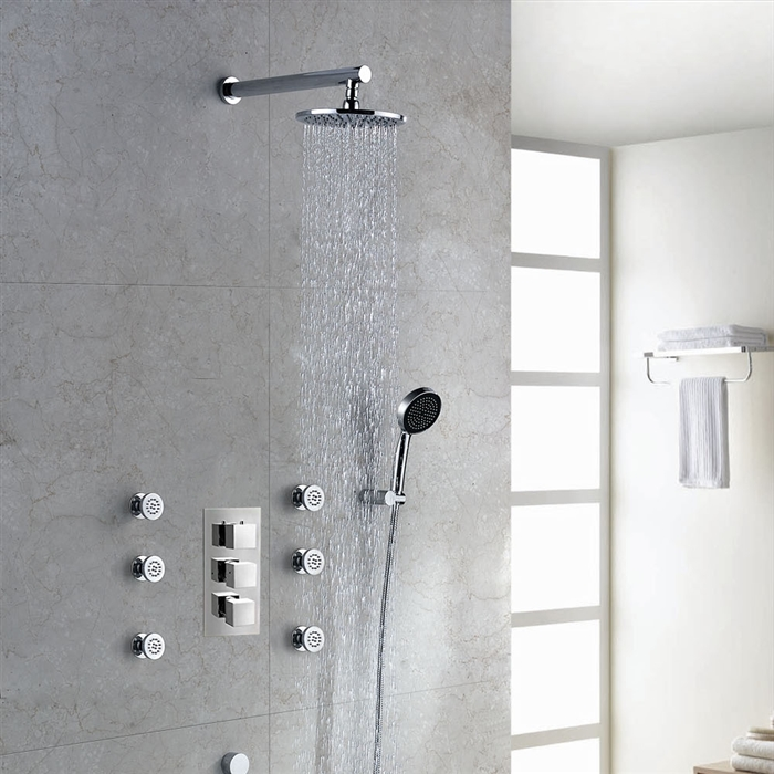 designer massage shower body system