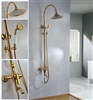 Luna Gold European Rainfall Shower Set