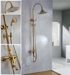 Luna Gold Shower Set