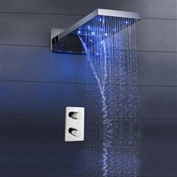 Luna Shower Set with thermostatic digital display mixer