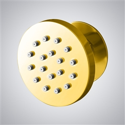 BathSelect Taranto Shiny Gold Finish Round Massage Shower Body Jets Spray