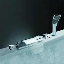 Chrome Widespread Shower Mixer