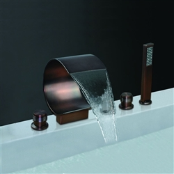 Bronze Waterfall Bathroom Faucet