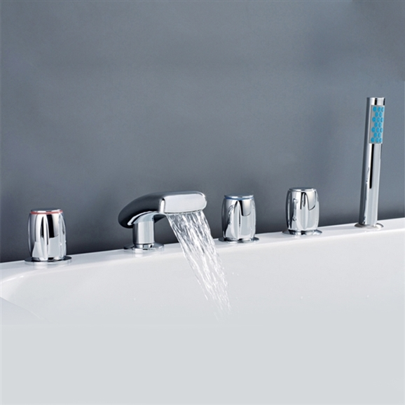 Chrome Waterfall Bathtub Faucet · Larger Photo Email A Friend