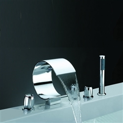 Widespread Waterfall Bathtub Mixer