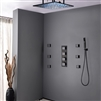 Royal Oil Rubbed Bronze shower head multicolor led