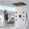 BathSelect Lima Multi Color Water Powered Led Shower with Adjustable Body Jets and Digital Mixer