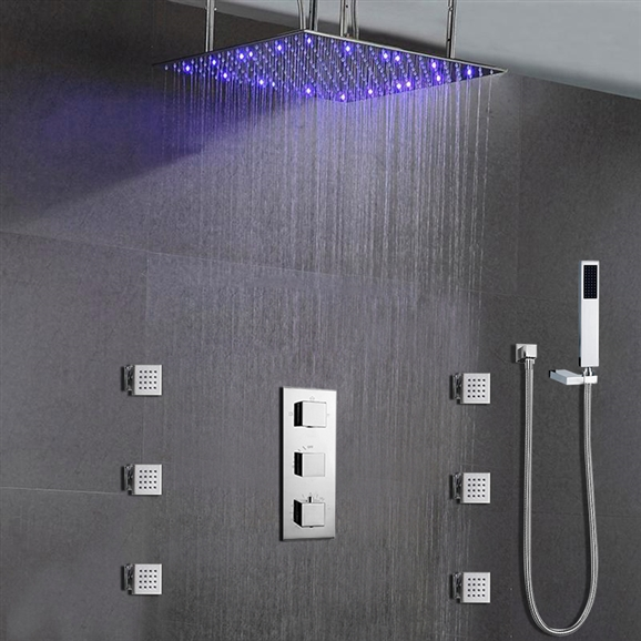 Buy Royal Multi Color Water Powered Led Shower With Adjustable ...