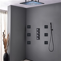 Oil Rubbed Bronze shower head multicolor led
