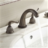 Oil Rubbed Bronze Double Handle Brass Faucet