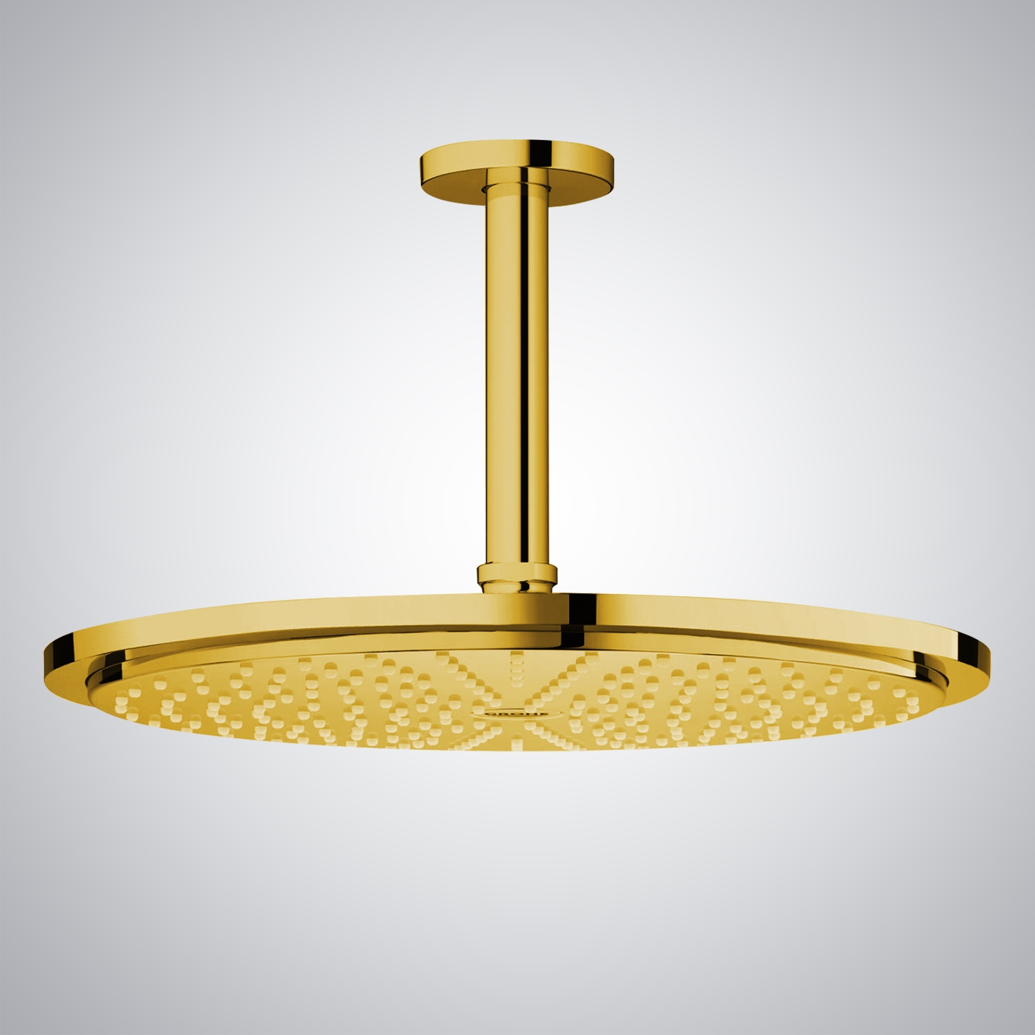 Shop 16 Gold Tone Round Color Changing Led Rain Shower Head At