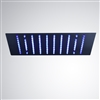 "24"" Stainless Steel Oil Rubbed LED Rainfall Shower"