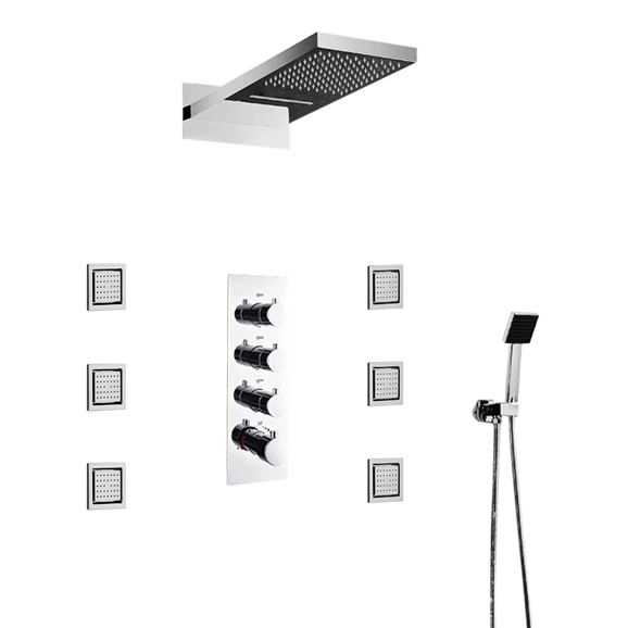 Special Sale For All Waterfall And Rainfall Shower Set With Thermostatic Mixer Valve Discounts Up To 35 Msrp