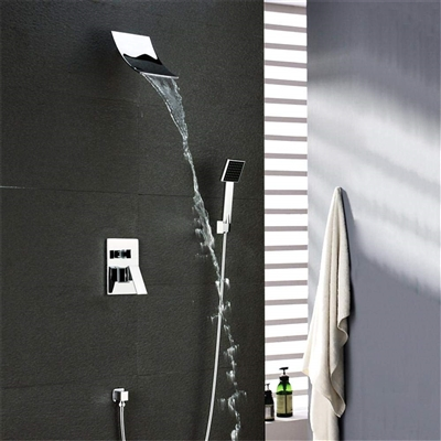 Annapolis Polished Chrome Wall Mount Waterfall Shower Set