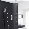 "Quest Thermostatic Shower System 3 Outlet Set 12"" Square Head Handset 6 Spa Jets"