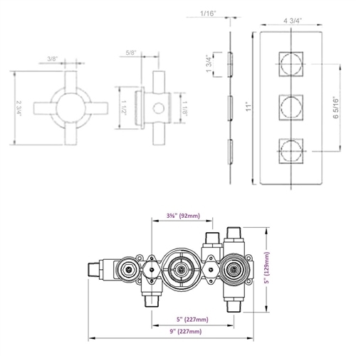 Thermostatic 3 Outlet Shower System ...