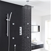 Fontana Thermostatic Shower System Chrome With Rain Shower Head  and  4 Jets
