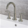 Créteil Brushed Nickel Bathroom Widespread Vanity Sink Faucet Lead Free
