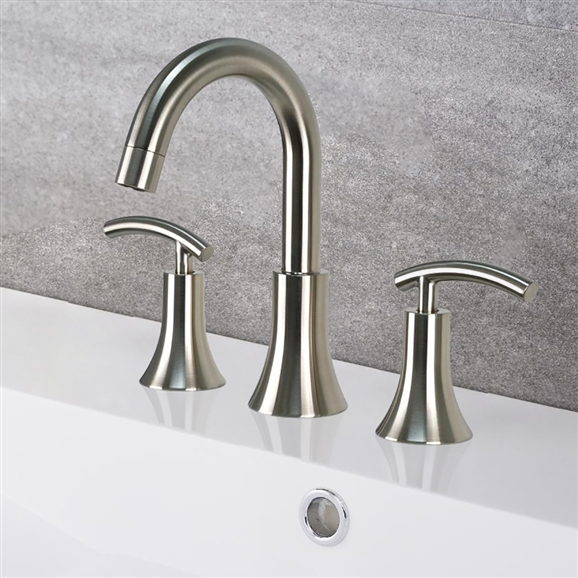 Teil Brushed Nickel Bath Widespread