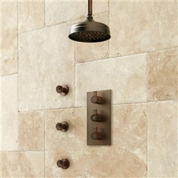 Lenox Shower System with Body Jets in Oil Rubbed Bronze Finish
