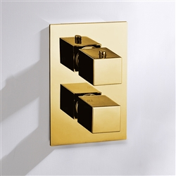 Ohio Brass Shower Mixer Gold Tone Finish