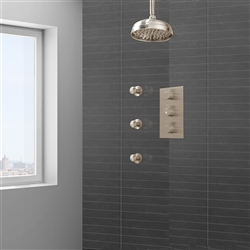 Lenox Shower System with Body Jets in Brushed Nickel