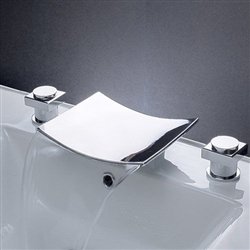Two Handle Desk Mount Bathroom Tub Faucet Chrome finished tap mixer