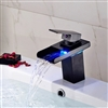 LED Color Changing Oil Rubbed Bronze Basin Faucet Single Handle Mixer Tap