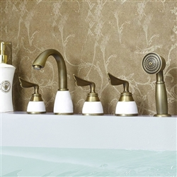 Napoli Creative Design 5PCS Deck mount Bathtub Faucet Set