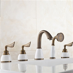 BathSignature Bathtub Faucet Antique Brass