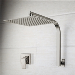 "16"" Brushed Nickel Rainfall Shower Head Set"