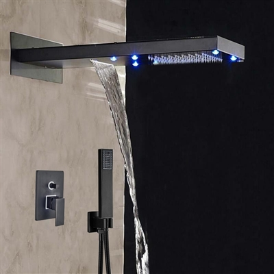 BathSelect Rainfall LED Color Changes Shower Single Handle Oil Rubbed Bronze Shower