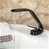 Reno Contemporary Deck Mount Sink FaucetDeck Mount Elegant Brass Black Basin Vanity Sink Mixer Faucet Single Handle Hot and Cold Lavatory Sink Mixer Tap