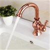 Fiego Rose Gold Sink Faucet Deck Mount