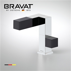 Bravat Contemporary single lever sink mixer cube design