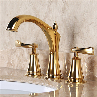 Lumina Solid Brass Luxurious 8 Inch Widespread Bathroom Faucet