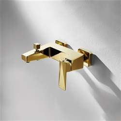 Bravat Gold Finish Wall Mount Faucet
