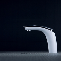 Rio Jaune Bath Sink Faucet White Color Chrome Finished