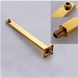 Wall Mounted Brass Golden Shower Arm G1/2 Fixed Pole/Holder for Showerhead