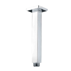 Luxurious Solid Brass Chrome Overhead Shower Bar Square Ceiling Mounted Shower Arm