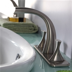 Bravat PVD Brushed Nickel Bathroom Basin Mixer Tap