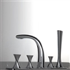 Bravat PVD Brushed Nickel Bathroom Sink Mixer Tap