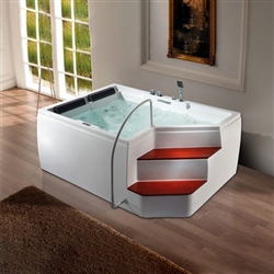 contemporary whirlpool bathtub