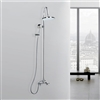 Odele Wall Mounted Shower Set in Chrome Finish
